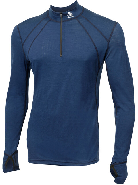Aclima LightWool Zip Shirt Men Insignia Blue
